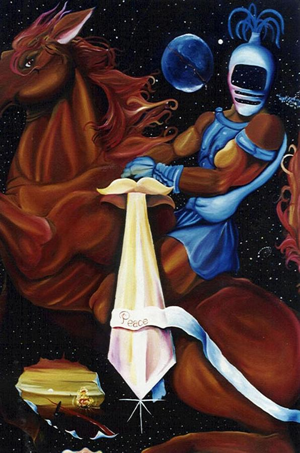 Four Horsemen Painting - The Second Seal by Mitchell Dupre