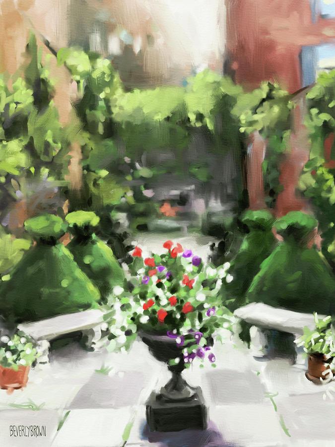 Garden Painting - The Secret Garden by Beverly Brown