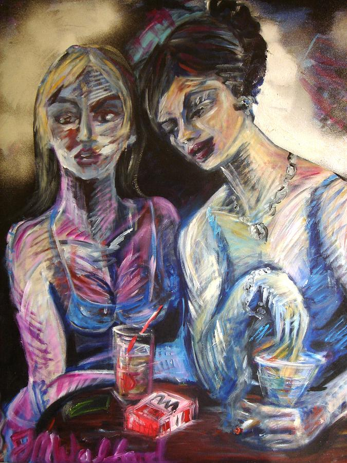 Bar Painting - The Secret by Jenni Walford
