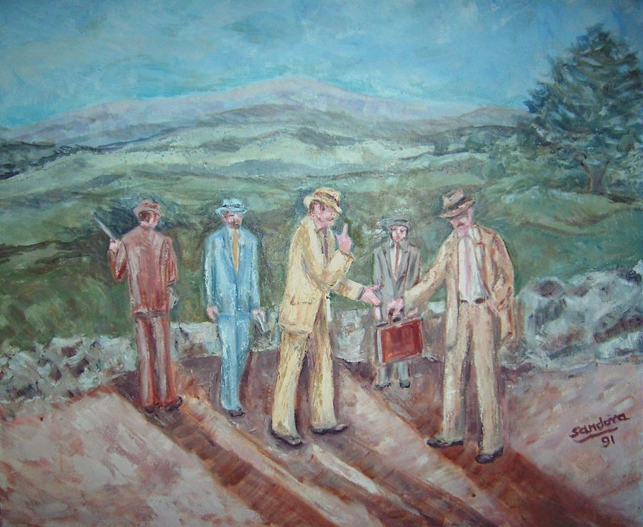 People Painting - The Secret by Joseph Sandora Jr