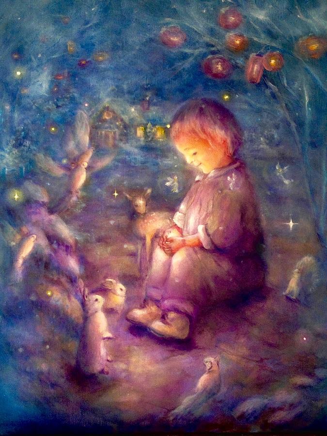 Child Painting - The Secret by Marija Schwarz
