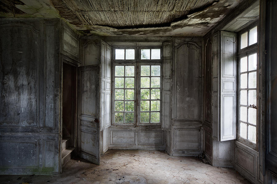 Ghost Town Photograph   The Secret Stairs To Heaven   Abandoned Building By  Dirk Ercken