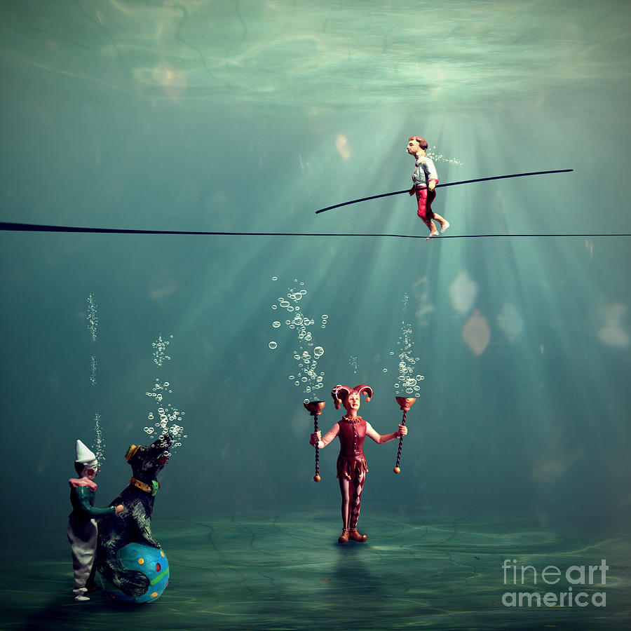 Underwater Photograph - The Secret Venetian Circus by Martine Roch