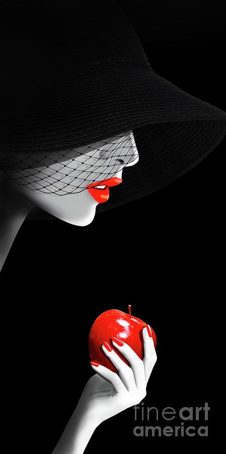 Woman Digital Art - The seduction by Monika Juengling