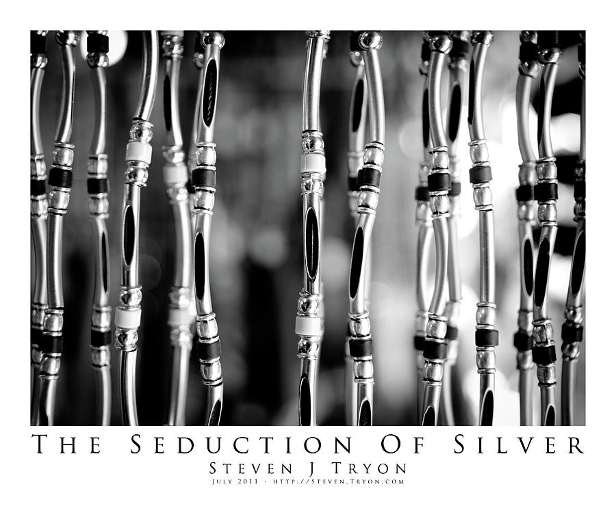 Beads Photograph - The Seduction Of Silver by Steven Tryon