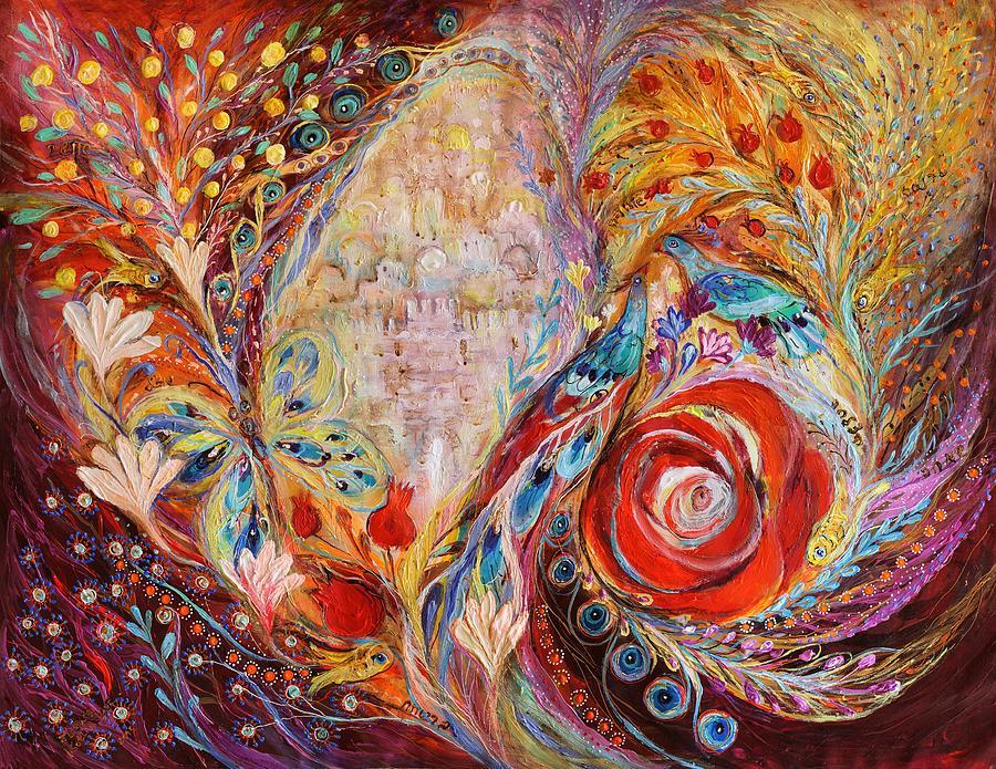 Fantasy Painting - The Seeing Of Jerusalem by Elena Kotliarker
