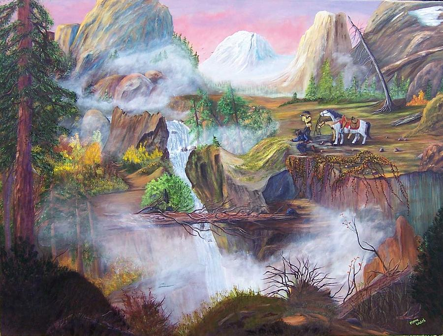 The Seekers At Saddle Rock Painting by Myrna Walsh