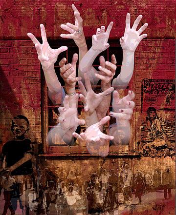 Hands Digital Art - The Seeking by Marti Wedewer