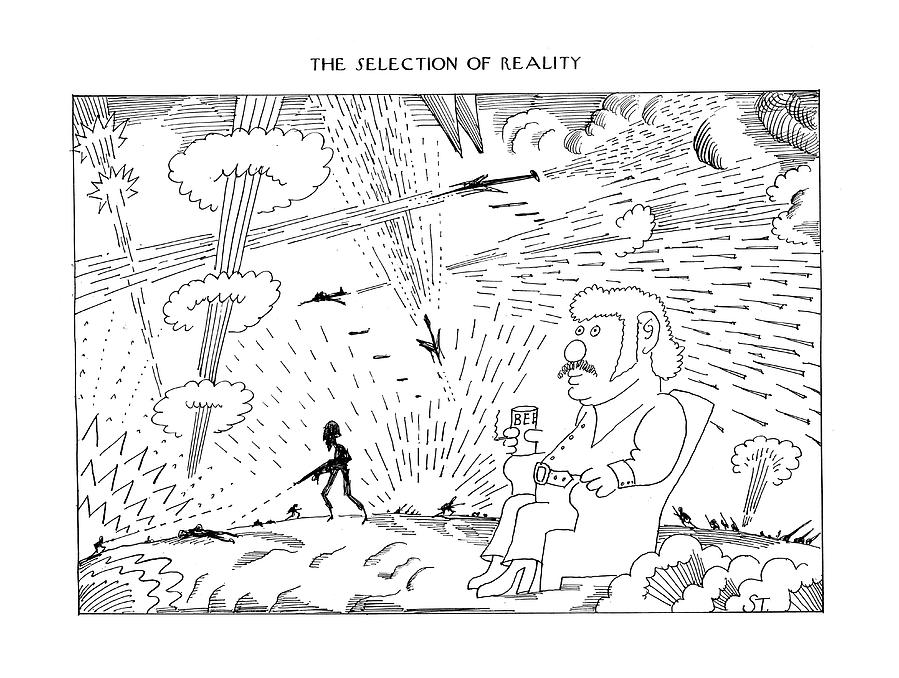 The Selection Of Reality Drawing by Saul Steinberg
