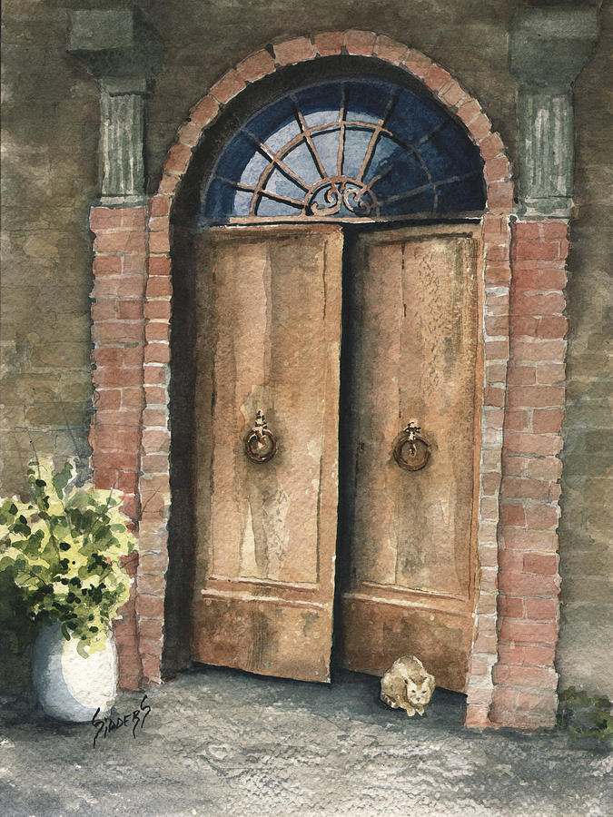 Door Painting - The Sentinel by Sam Sidders
