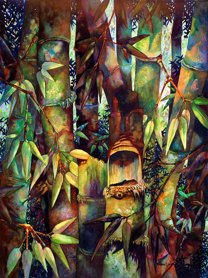 Bamboo Painting - The Sentry by Monica Linville