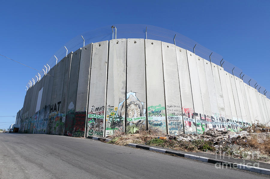 Bethlehem Photograph - The Separation Wall In Bethlehem, Palestine by Roberto Morgenthaler