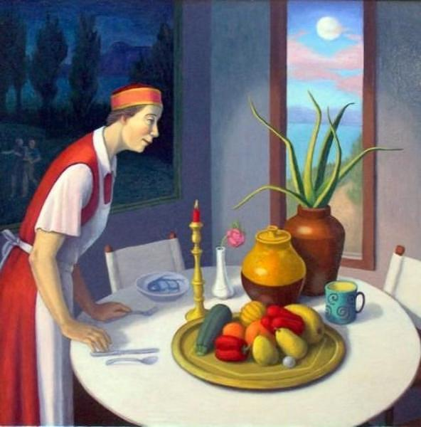 Figurative Painting - The Serving Woman by Diana Dean