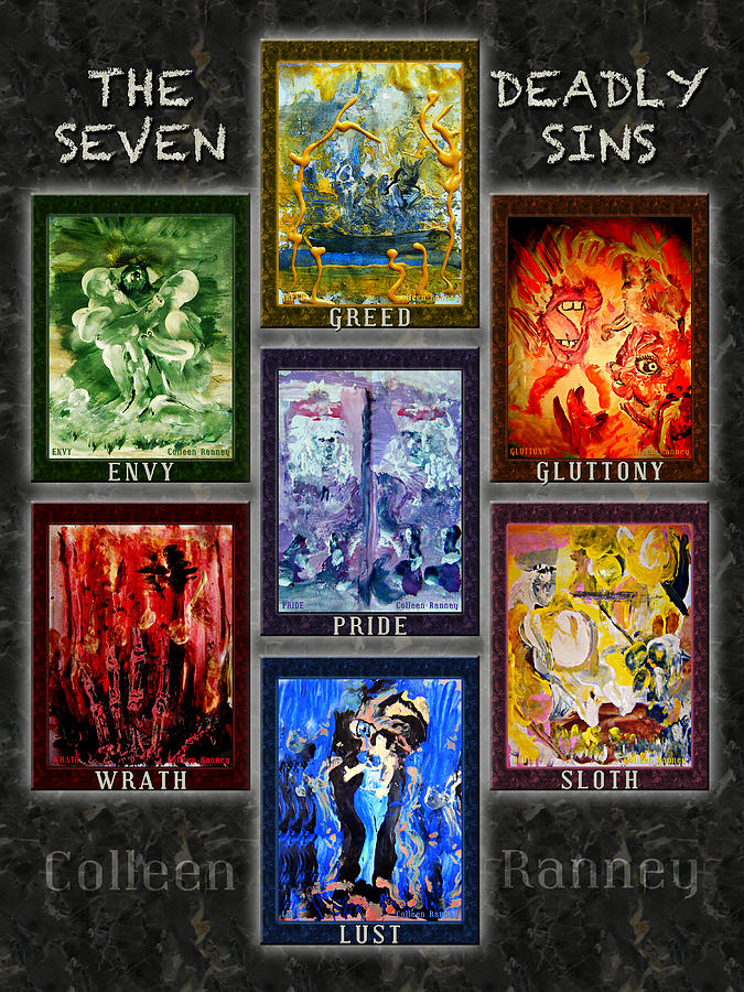 Wrath Painting - The Seven Deadly Sins by Colleen Ranney