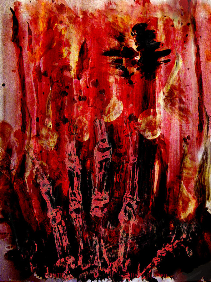 The Seven Deadly Sins Painting - The Seven Deadly Sins - Wrath by Colleen Ranney