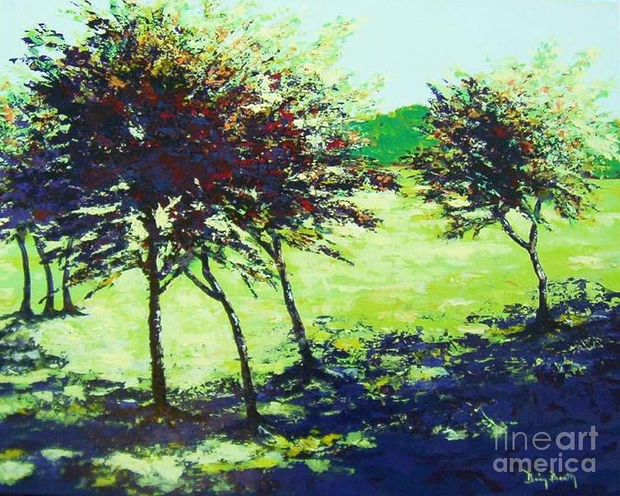 Landscape Painting - The Seventh Tree by Brian Booth