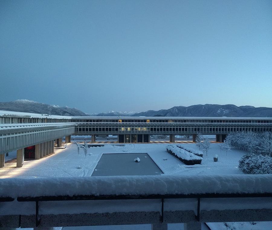 Sfu Photograph - The SFU polar research station by Jordan Barnes