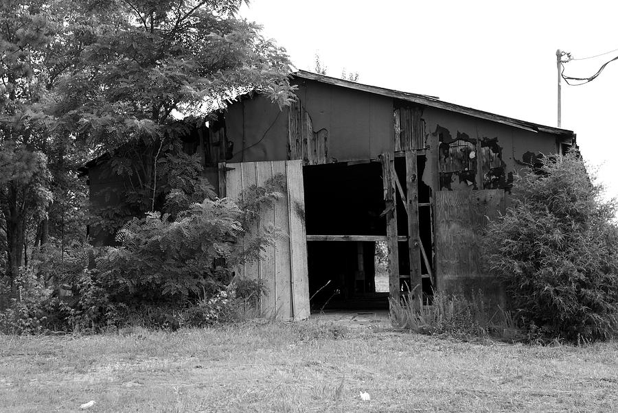 Black And White Photograph - The Shack by Vince Gladin