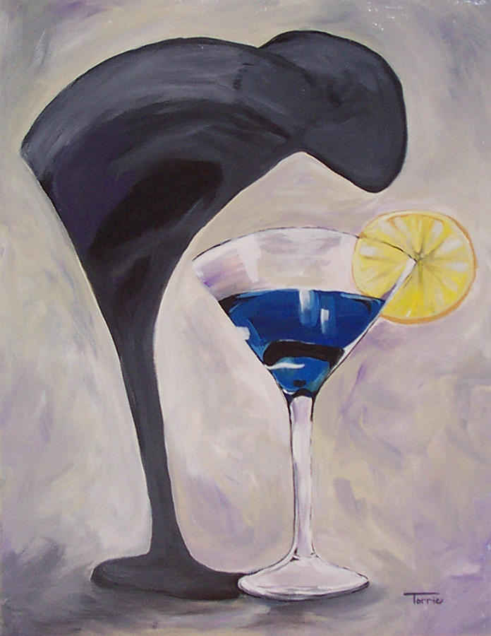 Martini Painting - The Shadow - Two  by Torrie Smiley