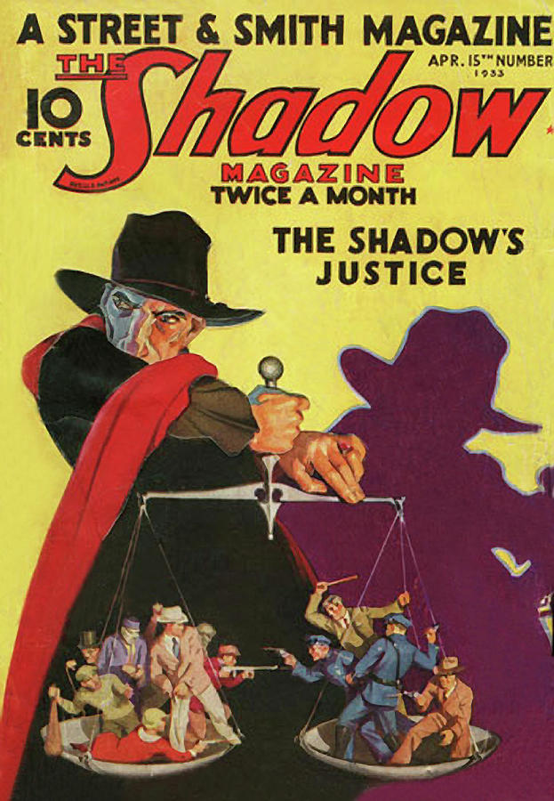The Shadow The Shadows Justice Painting by Conde Nast