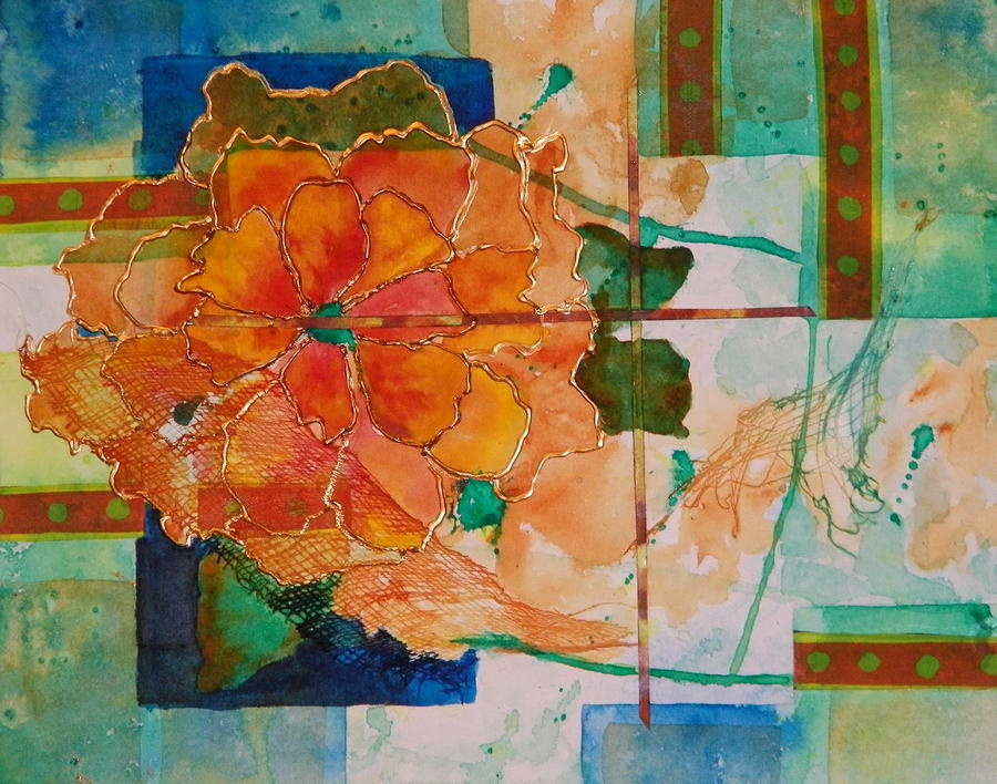 Flower Painting - The Shape Of Color by Terry Honstead