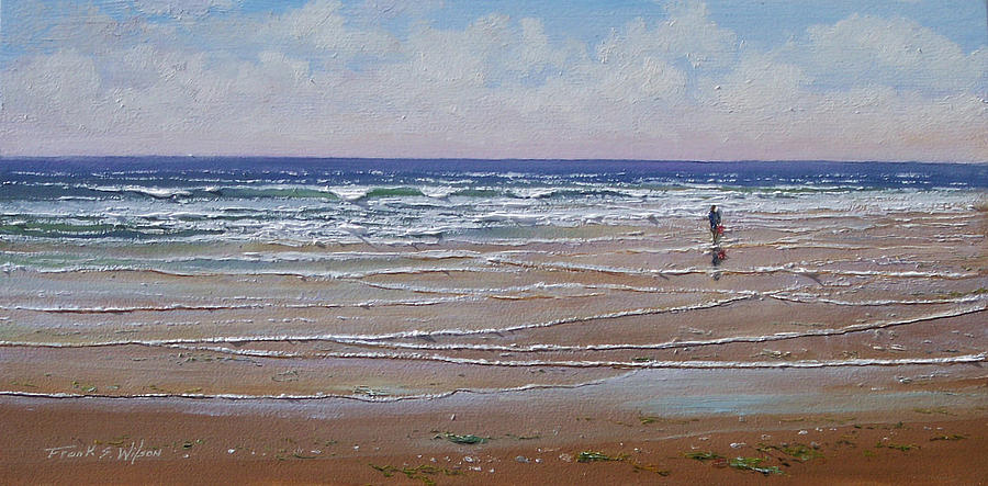 Seascape Painting - The Shell Collector by Frank Wilson