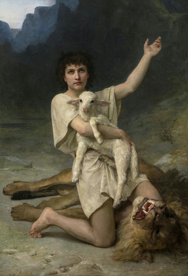Elizabeth Painting - The Shepherd David Triumphant by Elizabeth Jane Gardner