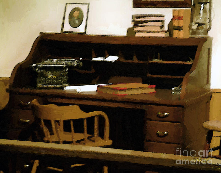 Antiques Digital Art - The Sheriff Is Out by RC deWinter