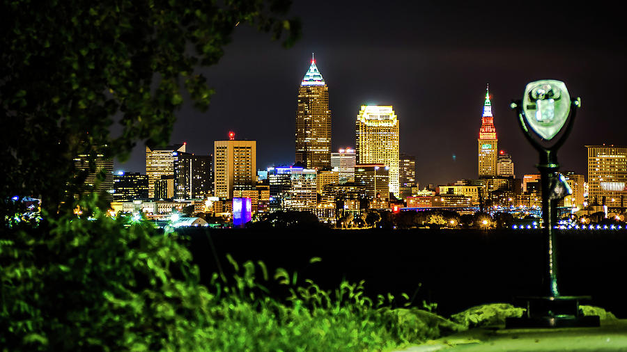 Cleveland Photograph - The Shining City by Alex Farmer