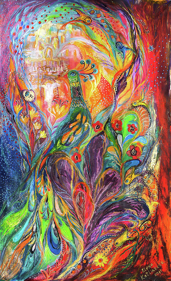 Original Painting - The Shining by Elena Kotliarker
