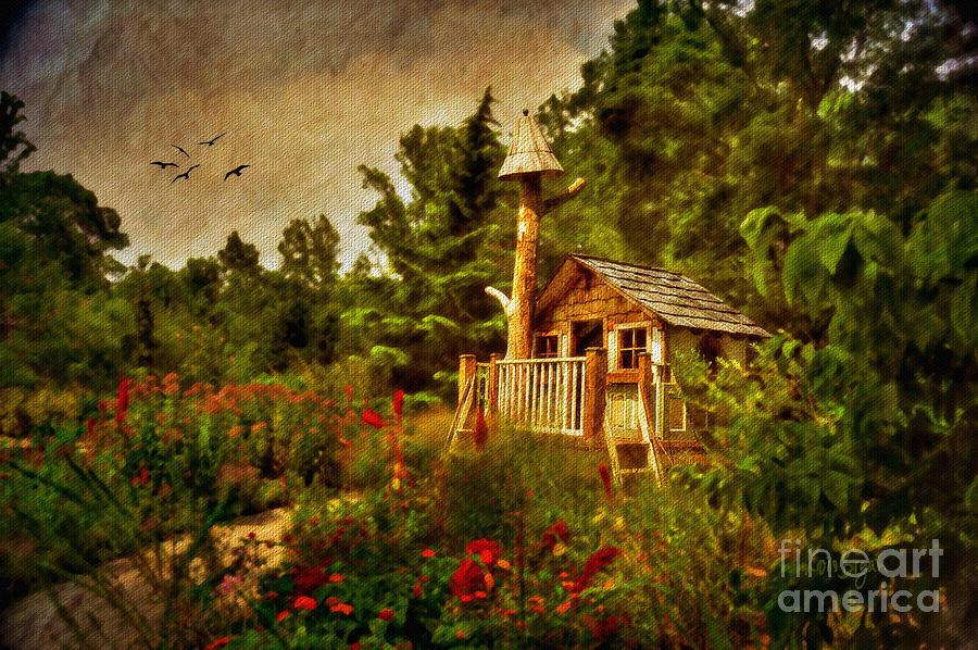 Playhouse Digital Art - The Shire by Lois Bryan