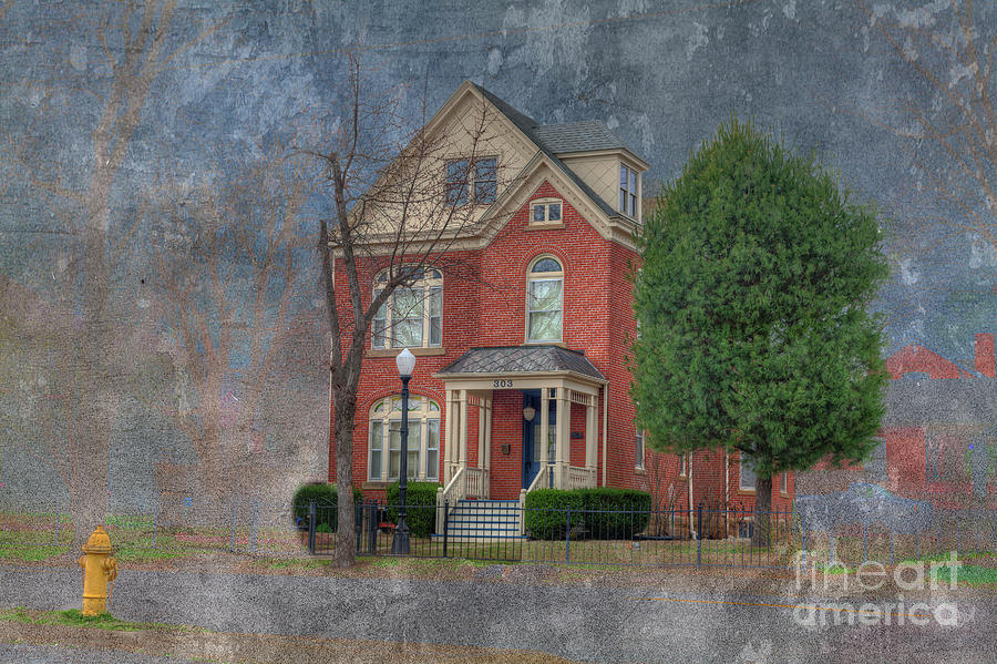 Red Digital Art - The Shivelbine House  by Larry Braun