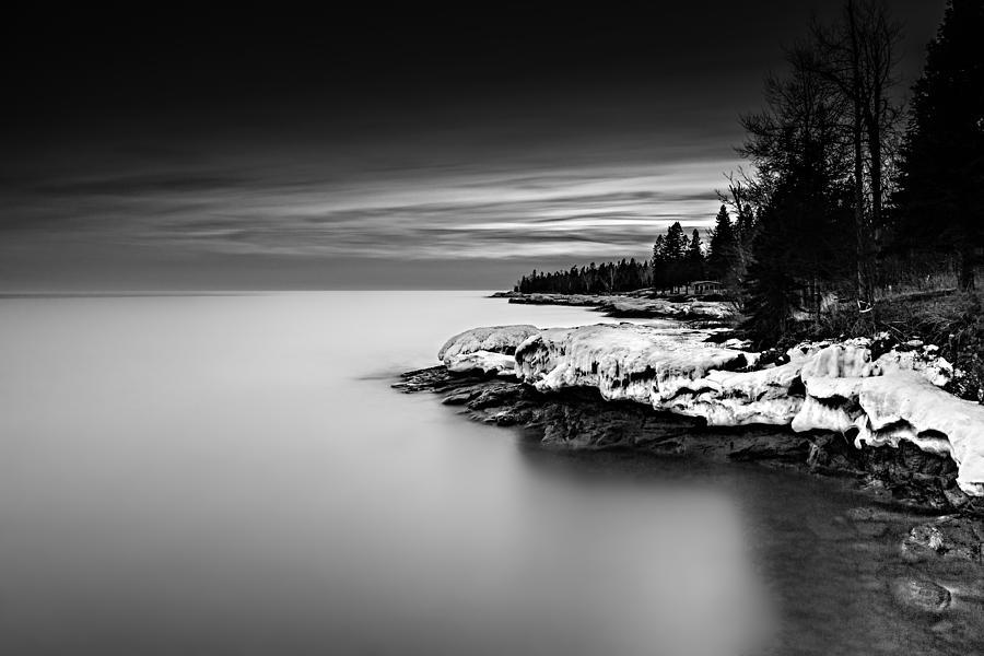 Black & White Photograph - The Shore by Mark Goodman