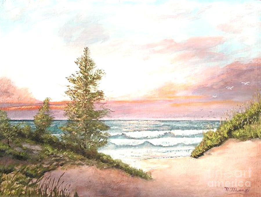 Shore Painting - The Shore by Nicholas Minniti