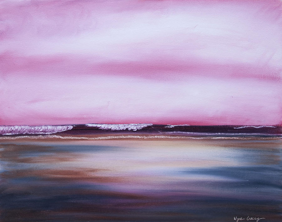 Virginia Painting - The Shore No. 1 - Rosy Dawn by Wynn Creasy