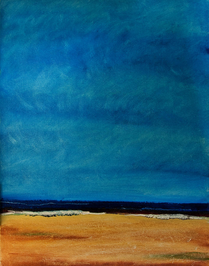 Ocean Painting - The Shore No. 2 -  Blue Noon by Wynn Creasy