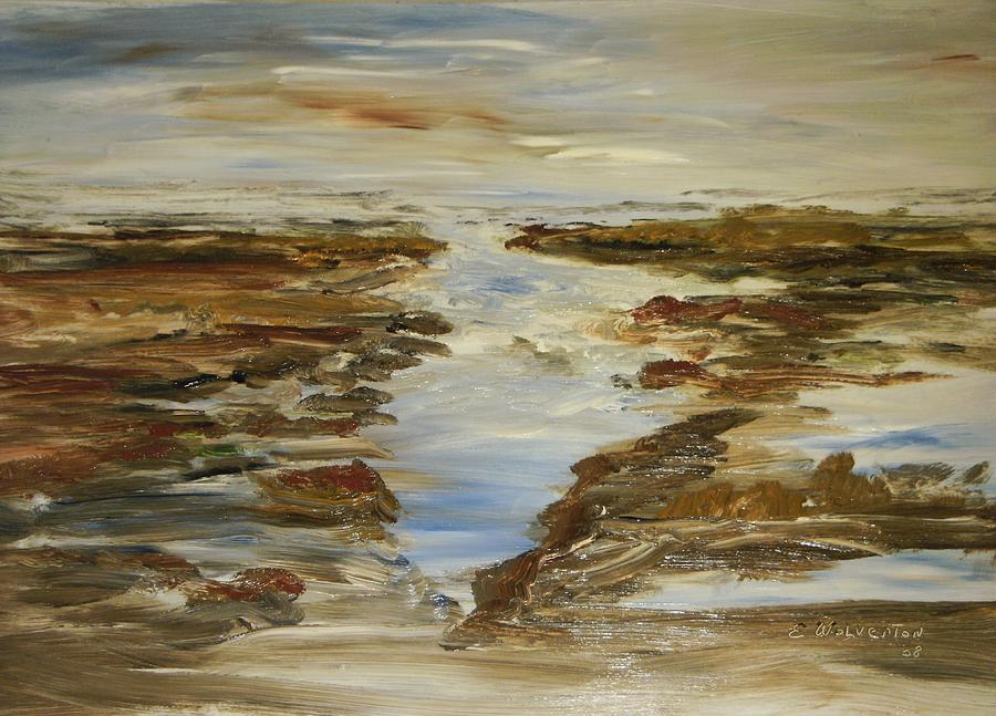 Seascape Painting - The Shouls by Edward Wolverton