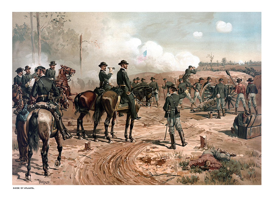 General Sherman Painting - The Siege Of Atlanta by War Is Hell Store