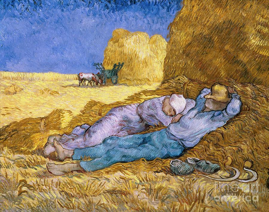 Noon Painting - The Siesta by Vincent Van Gogh