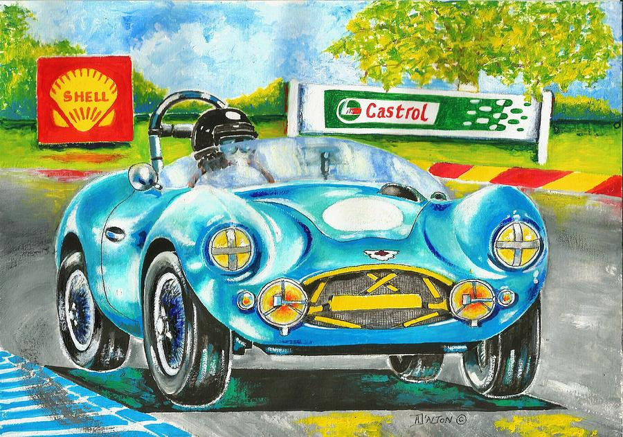 Aston Martin Painting - The Sight Sound And Smell Of Yesteryear by Anne Dalton