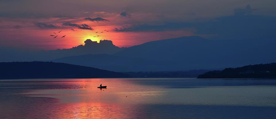 Coast Photograph - The Silence In Me... by Juliana Nan