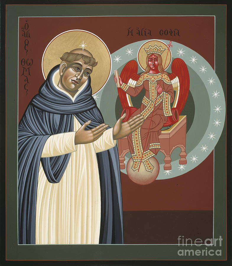 Icon Painting - The Silence of St Thomas Aquinas 097 by William Hart McNichols