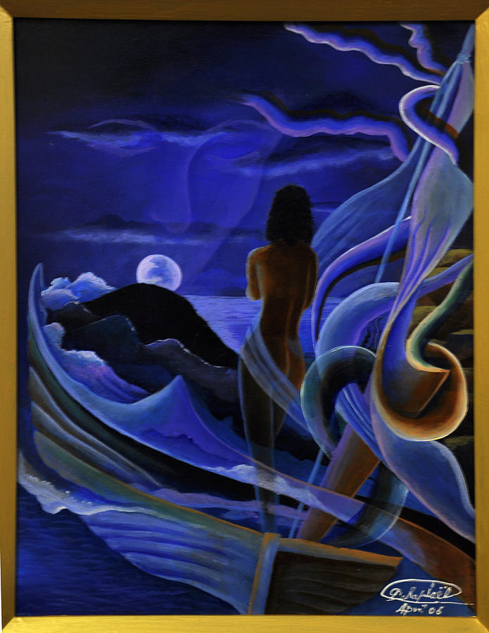 The Silence Of The Moonlight Painting by Darly Raphael