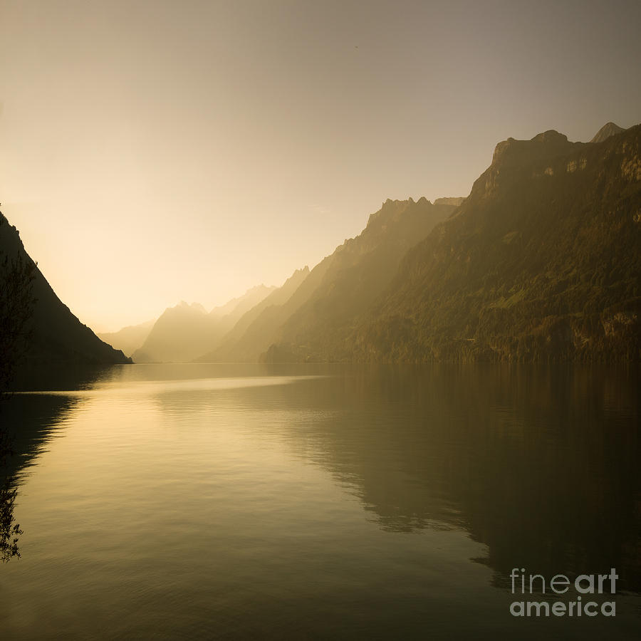 Alps Photograph - The Silent Lake by Angel Ciesniarska
