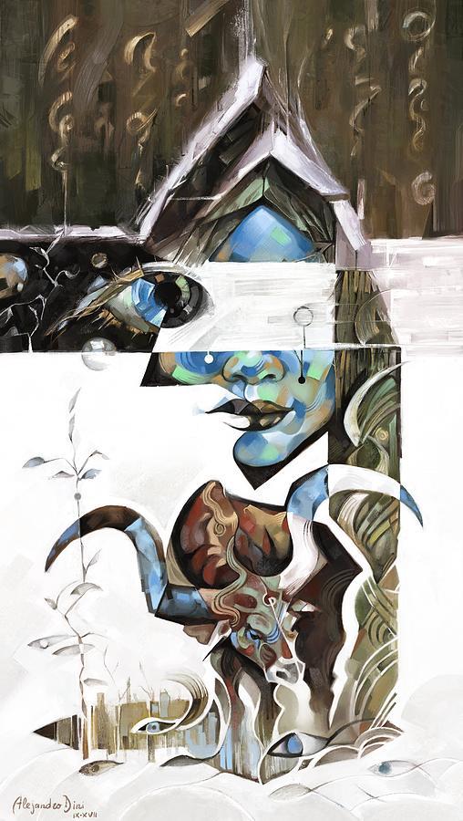 Blue Digital Art - The Silent Nomad by Alejandro Dini