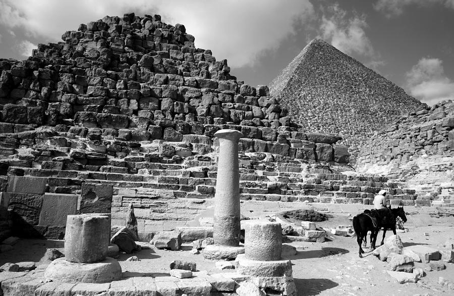 Black And White Photograph - The Single Column by Donna Corless