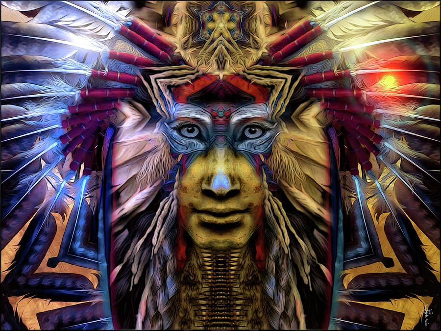 Sioux Photograph - The Sioux Spirit - The Plumed Lion by Daniel Arrhakis