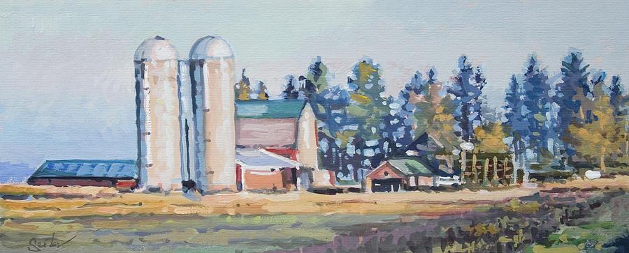 Farm Painting - The Sipple Farm by Larry Seiler