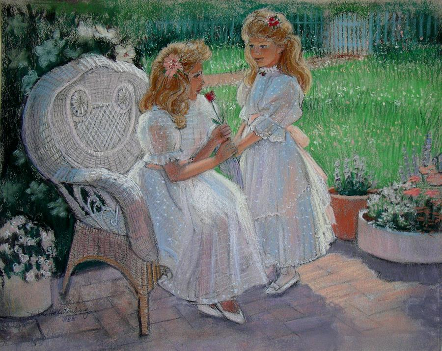 Impressionistic Painting - The Sisters Garden by Sue Halstenberg