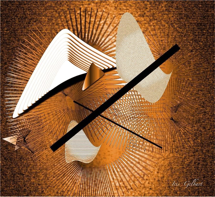 Abstract Digital Art - The Sixties by Iris Gelbart